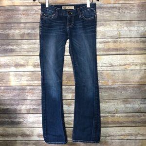 BKE maya jeans classic bootcut dark wash mid rise